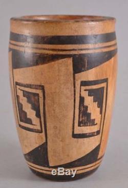 1930-40's LENA CHARLIE Hopi Native American Polychrome Pottery Vase