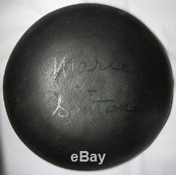 1943-56 Marie + Santana San Ildefonso Pueblo Pottery Bowl Plate