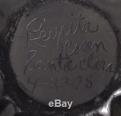 1978 Reycita Cosen Santa Clara Pueblo Native American Pottery Vase Bowl