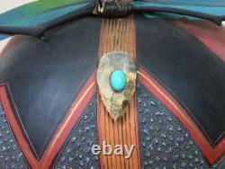 2005 RARE ROBERT RIVERA PAINTED NATIVE AMERICAN INDIAN FETISH BEAR GOURD ART 9x8