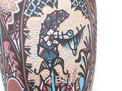 21 EXTRA LARGE! Jemez Pottery Native Indian Pueblo Hummingbird by Joseph Frgaua
