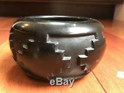 2 Phyllis And Marlin Hemlock Native American Pottery Santa Clara one large and 1