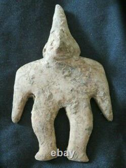 2 Small PRE-COLUMBIAN FIGURES Colima Pre-Historic Native American Old Indian Rel