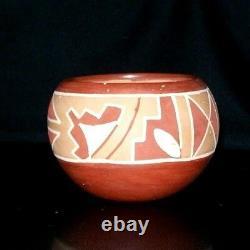 $40 OFF! SAN JUAN PUEBLO Pottery Rosita Cata Bowl Native American Signed 3H