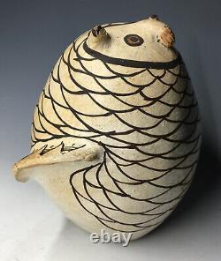 5 1/2 RARE Maria Z. Chino Owl Acoma Native American Pottery Figurine Pueblo Art
