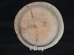 6.25 x 3 Hohokam Helmet Bowl, c. 850AD. NO RESTORATION, Broken/Glued ANASAZI