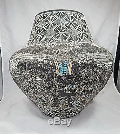 ACOMA INDIAN pottery HUGE! Kachina pottery NATHANIEL VALLO ESTATE