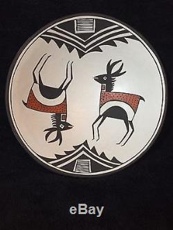 ACOMA PUEBLO POTTERY PLATE by DELORES LEWIS