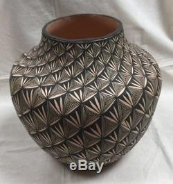 ACOMA PUEBLO POTTERY by SHARON STEVENS BUTTERFLY orTURQUOISE FINELINE DESIGN