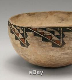 ANTIQUE Historic Acoma pottery bowl PUEBLO INDIAN NATIVE AMERICAN circa 1920