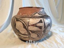 ANTIQUE LATE 1800'S ZUNI NATIVE AMERICAN INDIAN POTTERY OLLA JAR