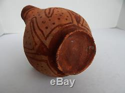 ANTIQUE MOJAVE INDIAN POTTERY EFFIGY JAR WITH HUMAN HEAD AND 4 SPOUTS