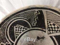 AUTHENTIC PRE-HISTORIC ANASAZI INDIAN BLACK ON WHITE POTTERY BOWL ARTIFACT