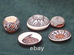 Acoma Miniature Pottery Collection 5 Pieces