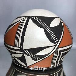Acoma Native American Dolores Lewis Pottery Pot Jar Geometric Southwestern