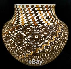 Acoma Native American Indian Pueblo Fine Line Pottery -Frederica Antonio