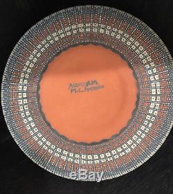 Acoma Native American Indian Pueblo Fine Line Pottery -Melissa C. Antonio