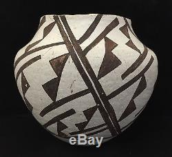 Acoma Native American pottery bowl geometric pattern 1930's 40's old