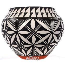 Acoma Polychrome Olla Pueblo Pottery Signed Antonio