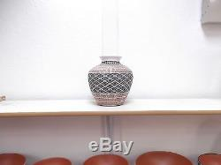 Acoma Pottery Native American Indian Pueblo Fine Line Basket Melissa C. Antonio
