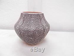 Acoma Pottery Native American Indian Pueblo Fine Line by Frederica V. Antonio