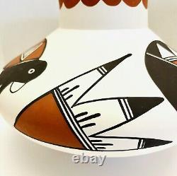 Acoma Pueblo Handmade Native American Teepee Bird 6x9 Pottery by T. Garcia N. M