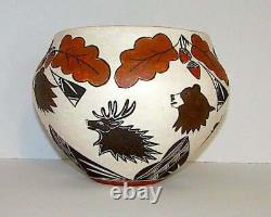 Acoma Pueblo Large Collector Quality Pottery Signed Vintage Native American Olla