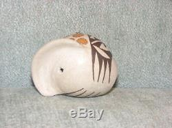 Acoma Pueblo Lucy Lewis Signed Dated Turkey Seed Pot Figure Figurene Pottery