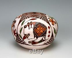 Acoma Pueblo Native American Indian Pottery Bird Seed Jar #3 Diane Lewis