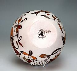 Acoma Pueblo Native American Indian Pottery Bowl Diane Lewis