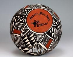 Acoma Pueblo Native American Indian Pottery Dragonfly Vase Berleen Estevan