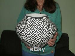 Acoma Pueblo Native American Indian Pottery Huge Olla Katherine Victorino 14