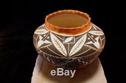Acoma Pueblo Native American Indian Pottery LARGE Olla Frances Torivio