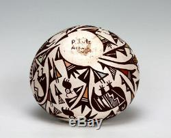 Acoma Pueblo Native American Indian Pottery Mimbres Bowl P. Lule