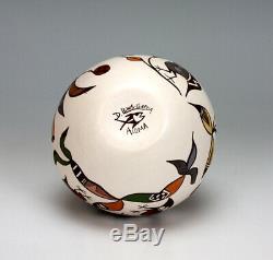 Acoma Pueblo Native American Indian Pottery Seed Jar Diane Lewis