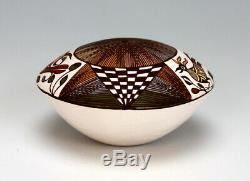 Acoma Pueblo Native American Indian Pottery Seed Pot Diane Lewis