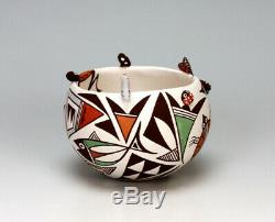 Acoma Pueblo Native American Indian Pottery Small Bowl Judy Lewis