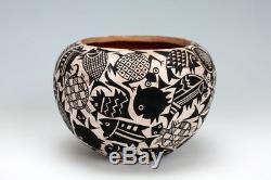 Acoma Pueblo Native American Indian Pottery Water Bowl John Aragon