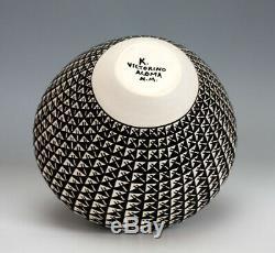 Acoma Pueblo Native American Pottery Raindrop Olla Katherine Victorino
