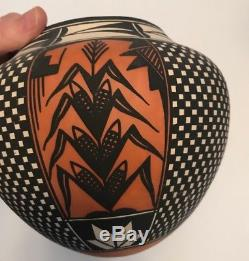 Acoma Pueblo Polychrome Pot Jar Native American by Emil Chino New Mexico