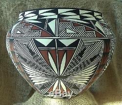 Acoma Pueblo Pottery Large Bowl by Corrine Chino Signed