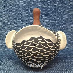 Acoma Turkey Signed D Patricia Large Vintage Pottery 9 Native American