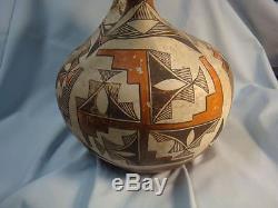 Acoma Zia Native American Indian Wedding Vase Polychrone HUGE