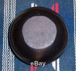 Agapita Tafoya Santa Clara Native American Black Painted Pottery Bowl Jar Pot