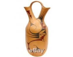 Alta Yesslith, Hopi Pottery, Wedding Vase, Traditional Paint, 15 x 6 1/2