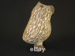 An early Zuni pottery standing Owl, Native American Indian, Circa 1905