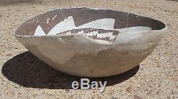 Anasazi Black & White Bowl No Restoration, Prehistoric Pueblo