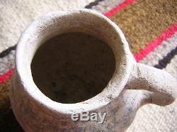 Anasazi Handled Jar, Prehistoric Pueblo 4 1/2 by 4 1/8 by13