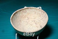 Anasazi / Hohokam red on buff bowl ca. 1000 ad. Intact No Restoration