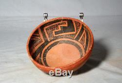 Anasazi / St Johns black on red bowl ca. 1250 ad